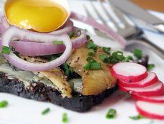 Sol Over Gudhjem - Smoked Herring with Egg Yolk   Danish Open Sandwiches (Smørrebrød)