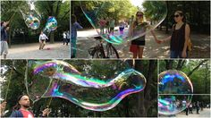 LUFTSCHLOSS - Immer wieder faszinierend und dabei so einfach wie vergänglich, ob groß oder klein, Seifenblasen sind wunderbar.
