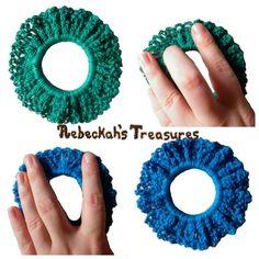 Ravelry: Easy Crochet Scrunchy pattern by Rebeckah Ferger Love Crochet, Crochet Gifts, Crochet For Kids, Crochet Flowers, Easy Crochet, Crochet Headbands, Crochet Things, Crochet Jewelry Patterns, Crochet Hair Accessories
