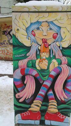 Street art in Kallio, Helsinki, Finland.