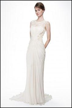 Crinkle Chiffon Wedding Dress