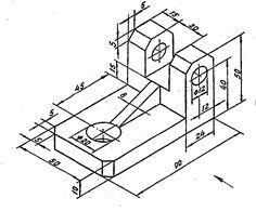 Методические указания и варианты заданий к расчетно- графическим работам по курсу «Начертательная геометрия. Инженерная графика» Autocad, Cad Drawing, Drawing Sketches, My Drawings, Cad 3d, Mechanical Engineering Design, Isometric Drawing, Interesting Drawings, 3d Cad Models