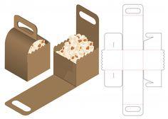Diy Gift Box, Diy Box, Box Packaging, Packaging Design, Diy Paper, Paper Crafts, Paper Box Template, Box Templates, Cardboard Packaging