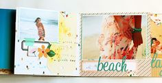 Crafting ideas from Sizzix UK: Summer mini book by Karine