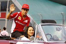 Singapore GP Drivers' Parade - Fernando Alonso