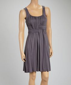 I like the weave detail on this Slate Gray Weave Sleeveless Dress by Survival #zulily #zulilyfinds