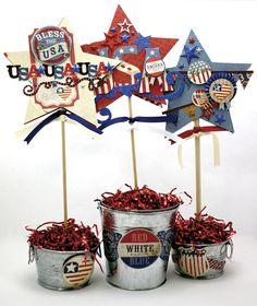 Americana Patriotic Star Pails