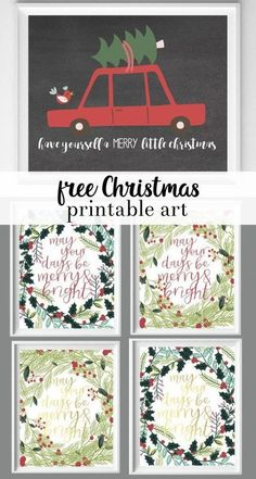 have yourself a merry little christmas printable | christmas printable art | wall art | merry and bright art | winter art | free printables