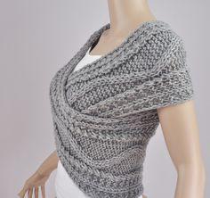 Mano mujer lana Chaleco suéter suéter cruzado capa por MaxMelody