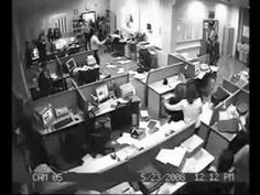 Bad day at the office - Crazy office fight man