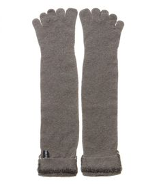 345992d8d05fa Unisex Cashmere Blend Long Five Finger Socks with Handmade decoration  packaged in Signature box