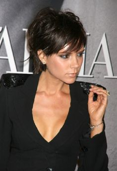 Victoria Beckham displaying another chic hair style.