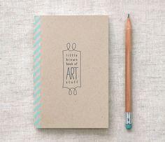 Handmade Mini Sketchbook  Travel Size Eco par HappyDappyBits, $7,00