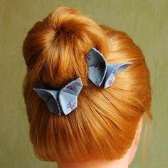 Des papillons à votre chignon / Réaliser une jolie coiffure avec des barrettes papillons