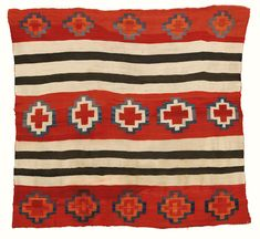 Navajo transitional blanket, woman's Chief-design.