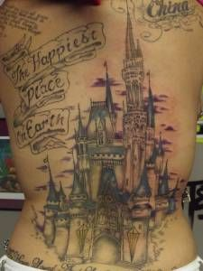 Awesome castle Back piece!!!Art done by Evil at EA Tattoo Studio in Orlando, Florida. 407.255.8282.