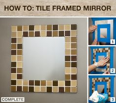 Home Depot Do It Herself Workshop Project Challenge GIVEAWAY Tiled MirrorFrame