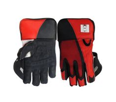 AM Cricket Wicket Keeper Red Gloves For Club Player