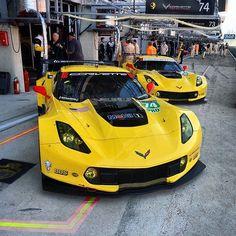 Corvette Racing C7.Rs at LeMans.