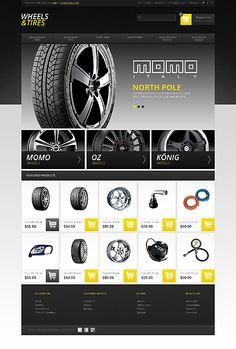 OpenCart Template for Wheels Free Website Templates, Template Site, Responsive Web Design, Ui Web, Car Advertising, Advertising Design, Teaching Themes, Web Technology, Website Themes