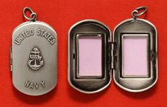 Dog tag locket.  They have one for every branch too. :) Must get one for Army!!!