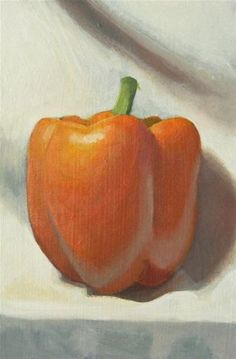 """upright pepper"" - Original Fine Art for Sale - © Peter Orrock"