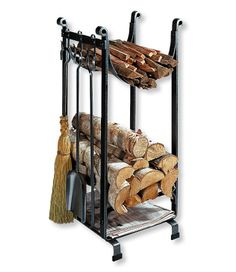 L.L.Bean Hearthside Wood Rack: $299.00 Made in the USA