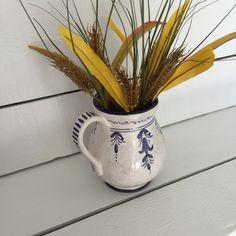 Majolica Pitcher by Sberna Ceramics of Deruta Italy, Small Pottery Pitcher, Italian Ceramic Pitcher  #ceramicpitcher