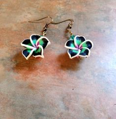 Lovely Tropical Plumeria Flower Earrings by WolfMountainJewelry on Etsy  10.00