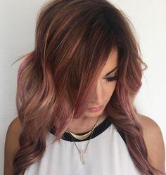 Washed+Out+Pink+Balayage+Highlights