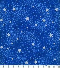 Keepsake Calico Fabric-Tonal Swirled Stars Navy at Joann.com