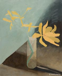 Galeries > Thierry Vernet > Natures mortes > Les tulipes jaunes