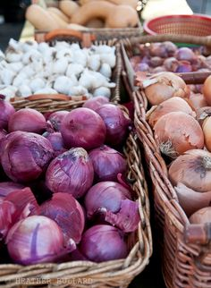 Onions from a farmer's market, Riverside, California, from| Heather Bullard.