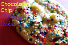 Chocolate Chip Birthday Cookies   Olives n Wine
