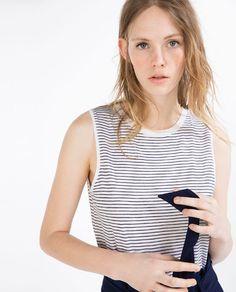 STRIPED ORGANIC COTTON T-SHIRT from Zara