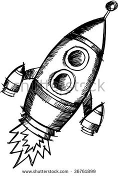 Doodle Sketchy Rocket Vector Illustration - buy this stock vector on Shutterstock & find other images.