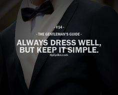 the gentleman's guide   The Gentleman's Guide #14   I Agree.