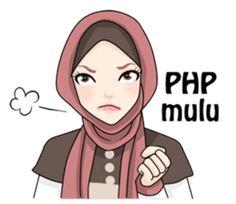 Hijab Gaul – LINE stickers | LINE STORE Comic Tutorial, Anime Muslim, Hijab Cartoon, Learn Korean, Line Store, Line Sticker, Islamic Pictures, Funny Stickers, Girl Cartoon