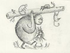 'Little Kong' sketches Freya Hartas