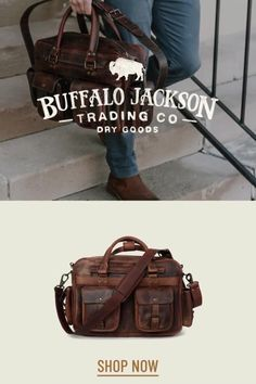 Men's vintage full grain brown leather bags. Handcrafted to handle whatever - work, travel, or adventure. Messenger bags, briefcase bags, duffle bags, camera bags, and dopp kits. Rugged fashion and real craftsmanship for the win. Great gift ideas for men who appreciate quality and style. Leather Briefcase, Men's Leather, Leather Satchel, Brown Leather, Duffle Bags, Messenger Bags, Rugged Fashion, Waxed Canvas Bag, Rugged Style