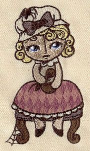 Nursery Rhymes - Little Miss Muffet | Urban Threads: Unique and Awesome Embroidery Designs