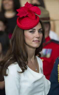 Katherine, Duchess of Cambridge. Love the hat.