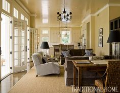 Brilliant Blue and Brown | Traditional Home