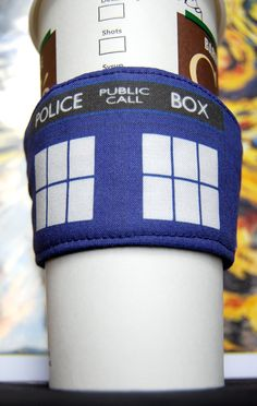 TARDIS Coffee Cozy