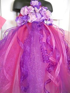 Over the top Pink and Purple Princess Tutu by ThatOldPinkShoppe, $40.00