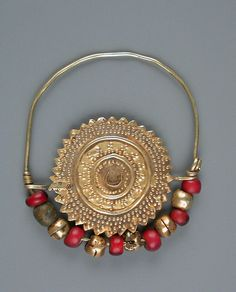 Nose ring from Central Asia/Afghanistan.