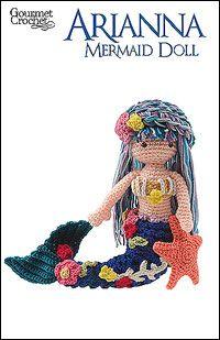 Crochet pattern on Ravelry for Arianna Mermaid Doll by Carolyn Christmas
