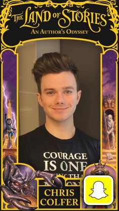 Joining Chris Colfer on his #TLOS5 2016 U.S. Tour? Look out for The Land of Stories @snapchat filter available at all events! (We want to see your snaps!) Fun happens here → TheLandofStories.com/Events