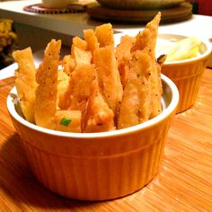 Garbanzo Bean 'French' Fries - a delicious way to get the health benefits of chickpeas