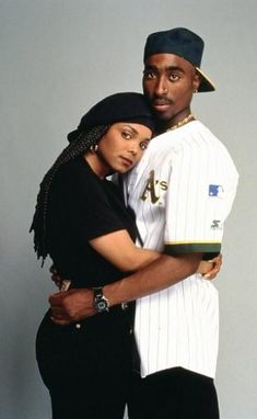 "Janet & Tupac in the movie, ""Poetic Justice"""